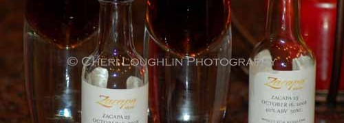 Zacapa 23 Rum Samples - photo copyright Cheri Loughlin