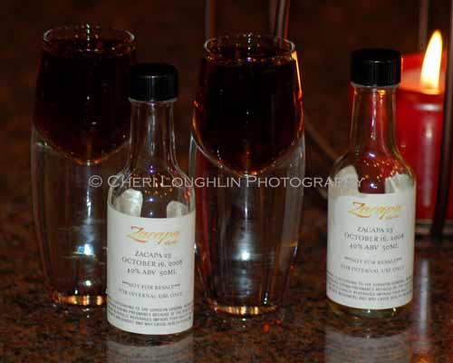 Zacapa 23 Rum Samples - photo copyright Cheri Loughlin