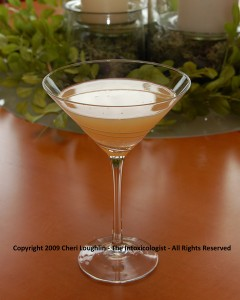 Springtime Martini - NUVO Sparkling Liqueur cocktail - photo copyright Cheri Loughlin