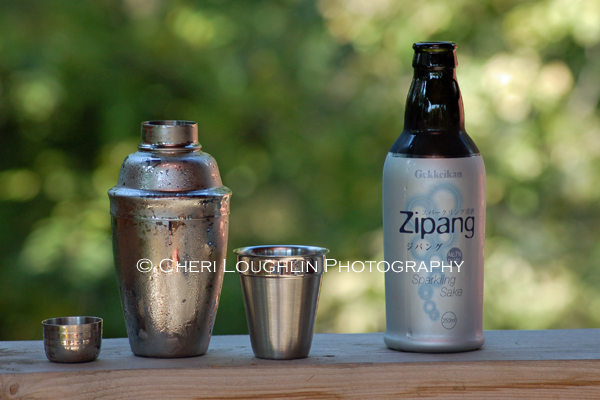 Zipang Sparkling Sake and Cocktail Shaker