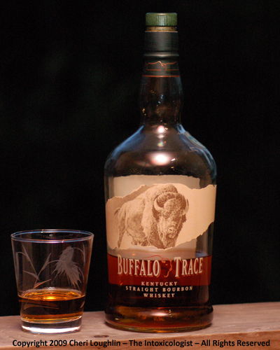 Buffalo Trace Bourbon Neat - photo copyright Cheri Loughlin