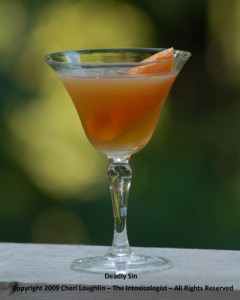 Deadly Sin - Bourbon Cocktail - Old Fitzgerald - copyright Cheri Loughlin