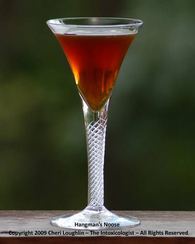Hangman's Noose {recipe and photo credit: Mixologist Cheri Loughlin, The Intoxicologist}