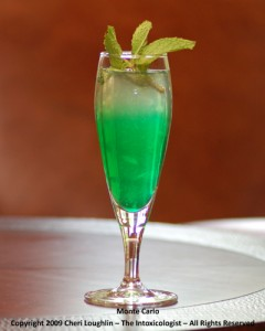 Monte Carlo - Gin - Creme de Menthe photo property of Cheri Loughlin