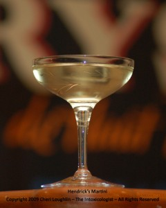 Hendrick's Martini - Hendrick's Gin - photo property of Cheri Loughlin