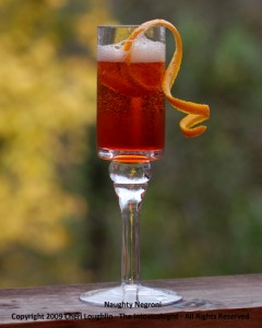 Naughty Negroni Holiday Champagne - photo property of Cheri Loughlin