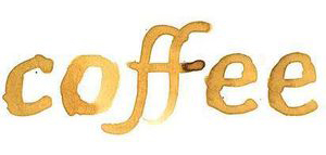 coffee stain wide - clip art