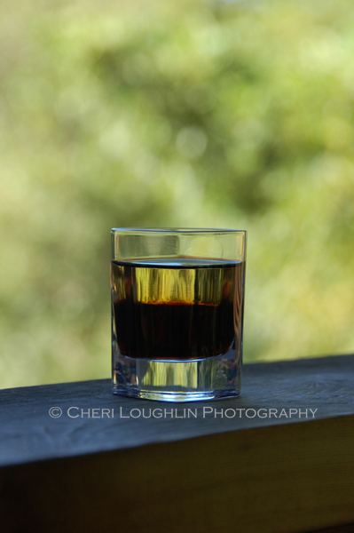 Adios layered shot is an easy two ingredient drink that can also be shaken and poured into the shot glass. It is also excellent served on the rocks. – photo by Cheri Loughlin, The Intoxicologist