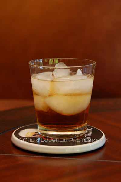 The Godfather belongs to a family of drinks which includes the Godmother {Vodka, Amaretto} and Godchild {Vodka, Amaretto, Half & Half}. The Godfather and Godmother are two ingredient drink recipes – photo by Cheri Loughlin, The Intoxicologist