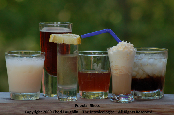 Popular Shot Drinks - photo property of Cheri Loughlin