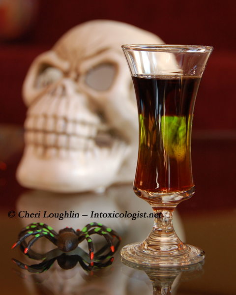 Hellraiser Halloween Shot {photo credit: Mixologist Cheri Loughlin, The Intoxicologist}