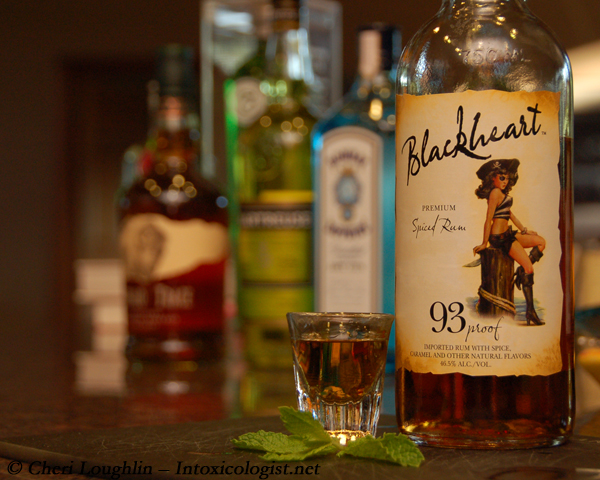 Blackheart Rum Tasting with Shot Glass - photo property of Cheri Loughlin