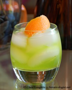 Green Sneaker - Football Drink Recipe - photo property of Cheri Loughlin