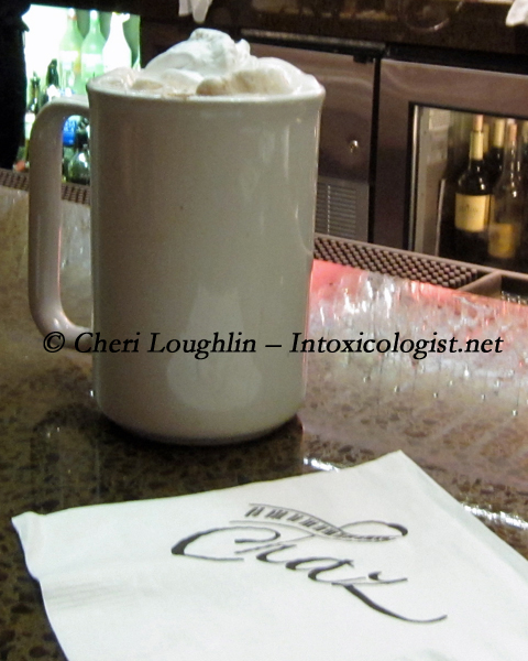Hot Chocolate at Chaz photo property of Cheri Loughlin