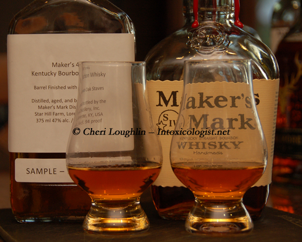 Makers 46 and Makers Mark Comparison photo copyright Cheri Loughlin