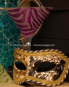 Mardi Gras Mask and Cocktail Glass photo copyright Cheri Loughlin