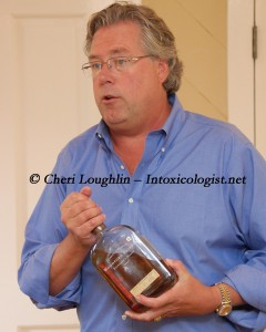 Tim Laird Chief Entertaining Officer at Woodford Reserve Bourbon photo copyright Cheri Loughlin