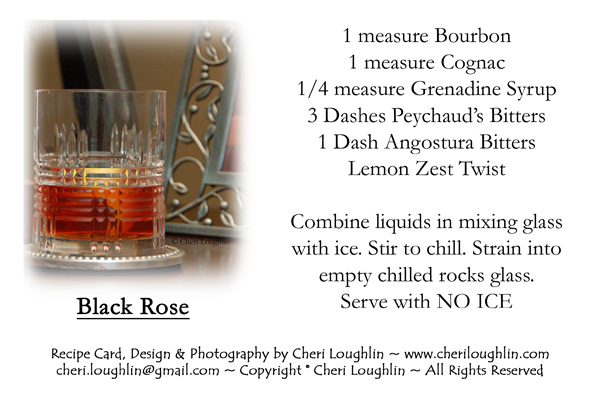 Black Rose Recipe Card