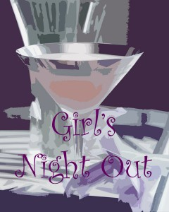 Girls Night Out Poster - copyright Cheri Loughlin