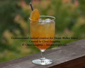 Rocky Mountain Ginger Crisp cocktail commissioned for Hiram Walker - created by Cheri Loughlin - photo copyright Cheri Loughlin