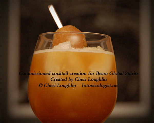 Rousing Red Ginger cocktail commissioned by Beam Global Spirits - created by Cheri Loughlin - photo copyright Cheri Loughlin