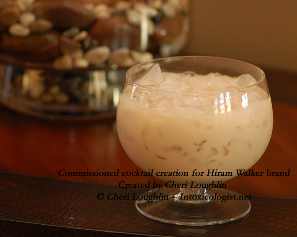 Triple Shot Cafe Latte - commissioned cocktail for Hiram Walker - created by Cheri Loughlin photo copyright Cheri Loughlin
