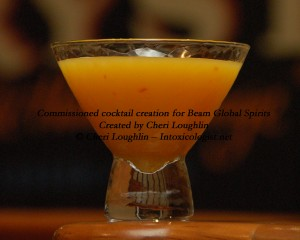Yuzu Firecracker cocktail commissioned by Beam Global Spirits - created by Cheri Loughlin - photo copyright Cheri Loughlin