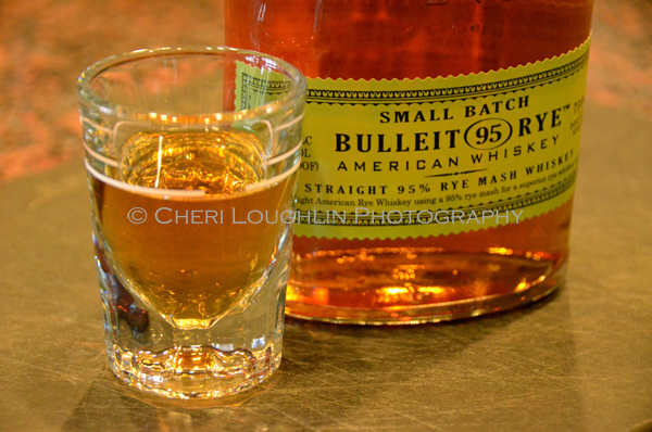 Bulleit Rye Neat  - photo copyright Cheri Loughlin