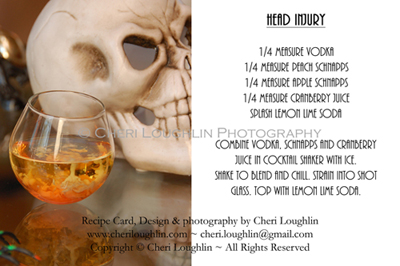 Head Injury 2 Halloween Recipe Card - photo copyright Cheri Loughlin