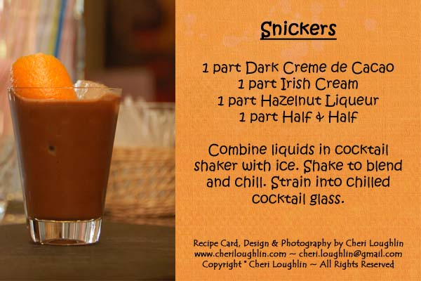 Snickers Recipe Card - photo copyright Cheri Loughlin