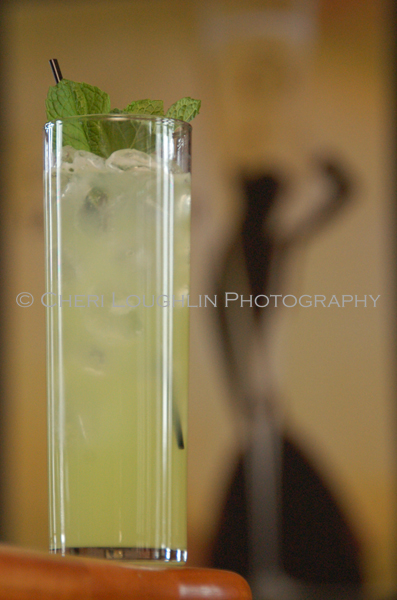 Belle of the Boulevard - Baby Cucumber, Mint, Lemon Juice, Simple Syrup, Homemade Lemon Lime Sour, Club Soda