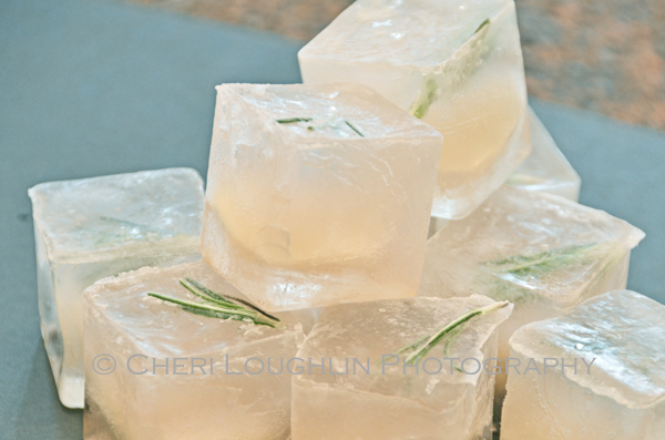 Rosemary Infused Ice Cubes