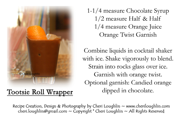 Tootsie Roll Wrapper recipe card - Mocktail photo copyright Cheri Loughlin