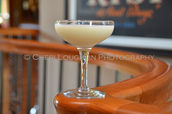 Low calorie Coco Wisp cocktail contains flavorful Almond Milk & tastes like a silky smooth decadent Pina Colada - recipe & photo by Mixologist Cheri Loughlin, The Intoxicologist