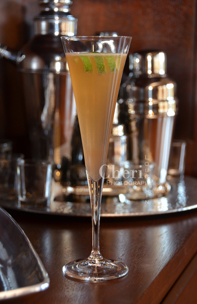 Spiced Celebration Sparkler - tequila, spiced orange syrup, bitters, lime, champagne