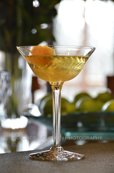 The French Intervention Cocktail from The Drunken Botanist - book by Amy Stewart - photo by Cheri Loughlin