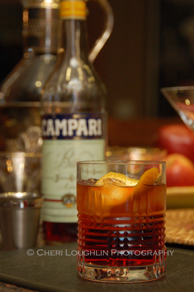 Cinnabar Negroni variation on the Negroni classic cocktail - photo by Cheri Loughlin