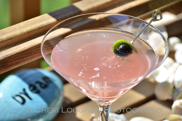 Italian Cream Cake Martini inspired by my favorite dessert cake! - recipe and photo by Mixologist Cheri Loughlin, The Intoxicologist