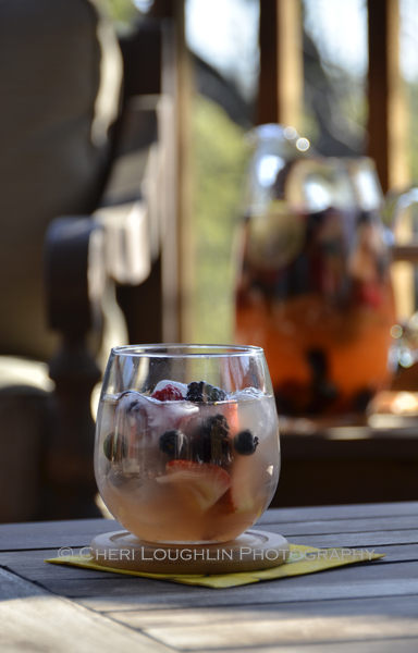 All the Beautiful Berries Sangria contains fresh blueberries, blackberries, strawberries and raspberries. - recipe and photo by Mixologist Cheri Loughlin, The Intoxicologist