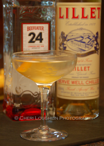 Make the Beefeater 24 Martini smaller by cutting the ingredients in half. The cocktail stays chilled as you sip and enjoy the company of friends. - photo by Cheri Loughlin, The Intoxicologist