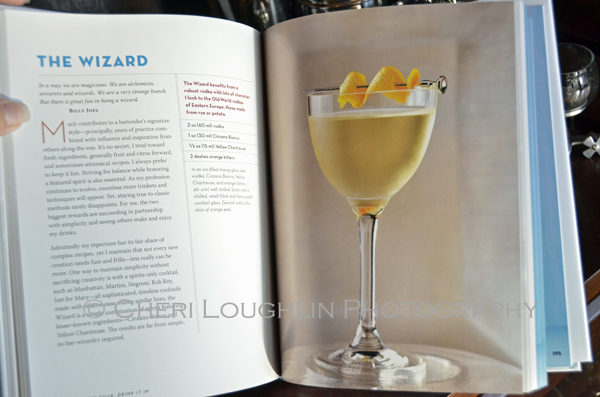 Vodka Distilled by Tony Abou-Ganim The Modern Mixologist - The Wizard Cocktail as shown in the book. - photo by Mixologist Cheri Loughlin, The Intoxicologist