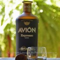 Avion Espresso Liqueur - Avion Tequila 020 Avion Espresso Liqueur taster shot with wood