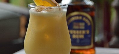 Pusser's Rum Painkiller Cocktail is made with Pusser's Rum, Pineapple Juice, Orange Juice, Cream of Coconut and a generous sprinkling of grated nutmeg. - photo by Mixologist Cheri Loughlin, The Intoxicologist