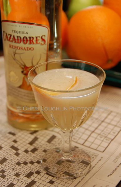 Tequila Cazadorez Teaser Cocktail 013 - Tease your taste buds with this little temptation of a cocktail. Teaser cocktail contains a wee bit of acidic tartness, hints of vanilla, a burst of orange and mellowed sweetness. - photo and recipe adaption by Mixologist Cheri Loughlin, The Intoxicologist