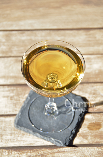 The Pocket Gold fall cocktail uses bourbon with sweeter finish, walnut liqueur, Tuaca and dry vermouth. Served martini style. Pocket Gold could also be served over a large single cube of ice for a slow melting drink. {recipe and photo credit: Mixologist Cheri Loughlin, The Intoxicologist www.intoxicologist.net}