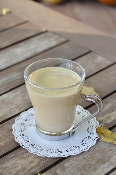 Pumpkin Pie White Hot Chocolate. Sip it as is without the whipped cream and pumpkin pie spice if you wish. It is still decadently delicious! {recipe and photo credit: Mixologist Cheri Loughlin, The Intoxicologist. www.intoxicologist.net}