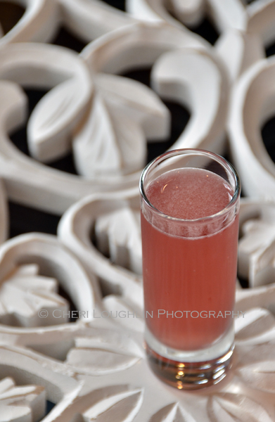 Skittle Shot 064 is a fun candy themed shot ideal for Halloween parties, celebrating PINK for Breast Cancer Awareness month and of course raising a toast to National Vodka Day. - photo credit to Mixologist Cheri Loughlin, The Intoxicologist