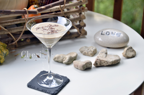 P.S. I Love You Creamy Cocktail Recipe contains Irish Cream, Amaretto, Gold Rum, Coffee Liqueur and Heavy Whipping Cream with Grated Chocolate Garnish {photo credit: Mixologist Cheri Loughlin, The Intoxicologist www.intoxicologist.net}