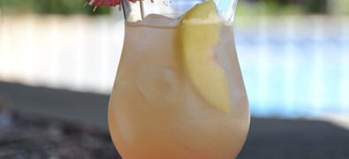 Cotton Candy Cocktail with Moscato Wine, Passion Fruit Fusion Liqueur and Pineapple Juice. {recipe and photo credit: Mixologist Cheri Loughlin, The Intoxicologist www.intoxicologist.net}