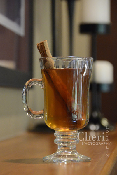 This Hot Buttered Cider recipe uses spiced rum and butterscotch schnapps for a hint of spice and buttery feel. Add cinnamon schnapps for tad more spice - {recipe and photo credit Mixologist Cheri Loughlin, The Intoxicologist}